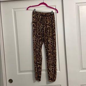 Leopard Drawstring Pants